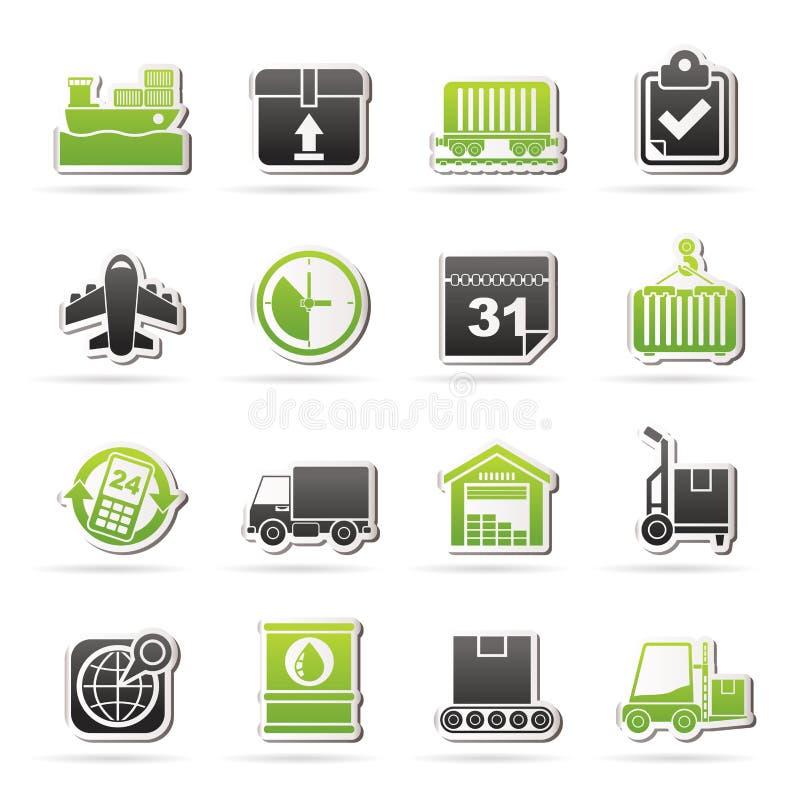 Logistycznie i wysyłka ikony ilustracja wektor