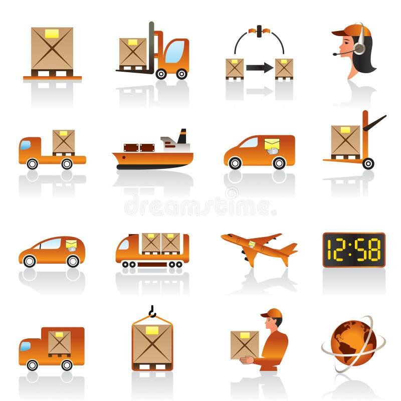 logistycznie ikona set ilustracji