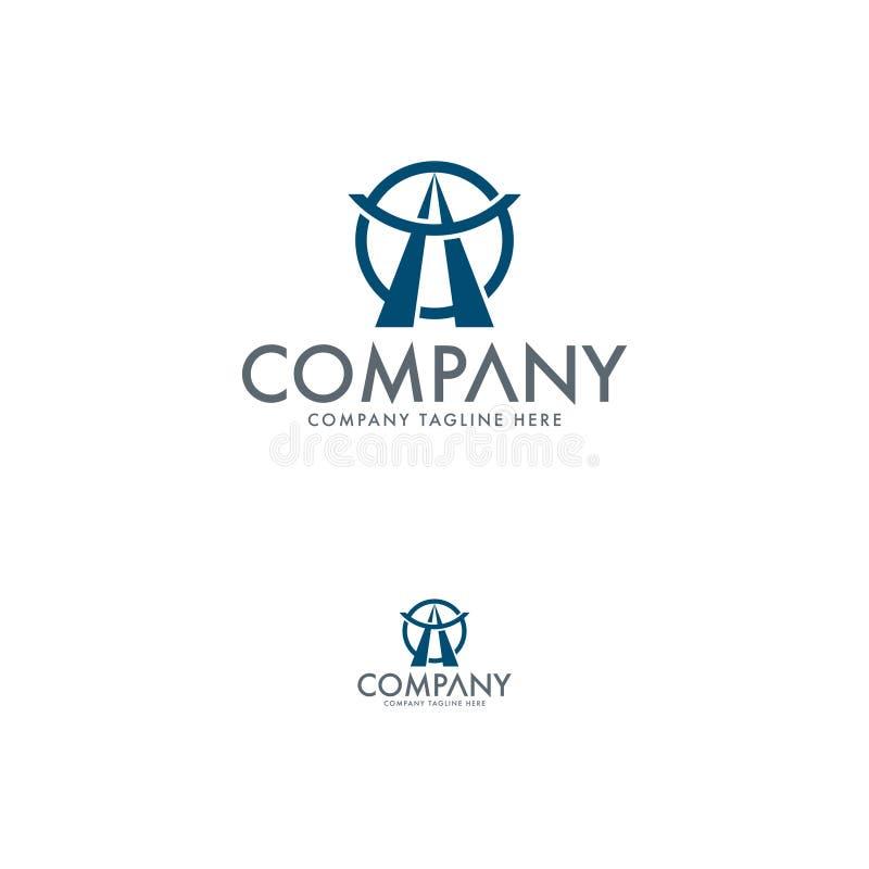 Logistyka logo szablon Pisze list loga szablonu projekt ilustracja wektor