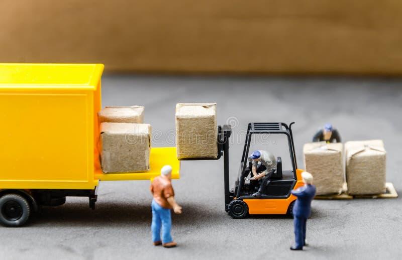 Logistyki składują frachtowego transportu pojęcie obrazy royalty free