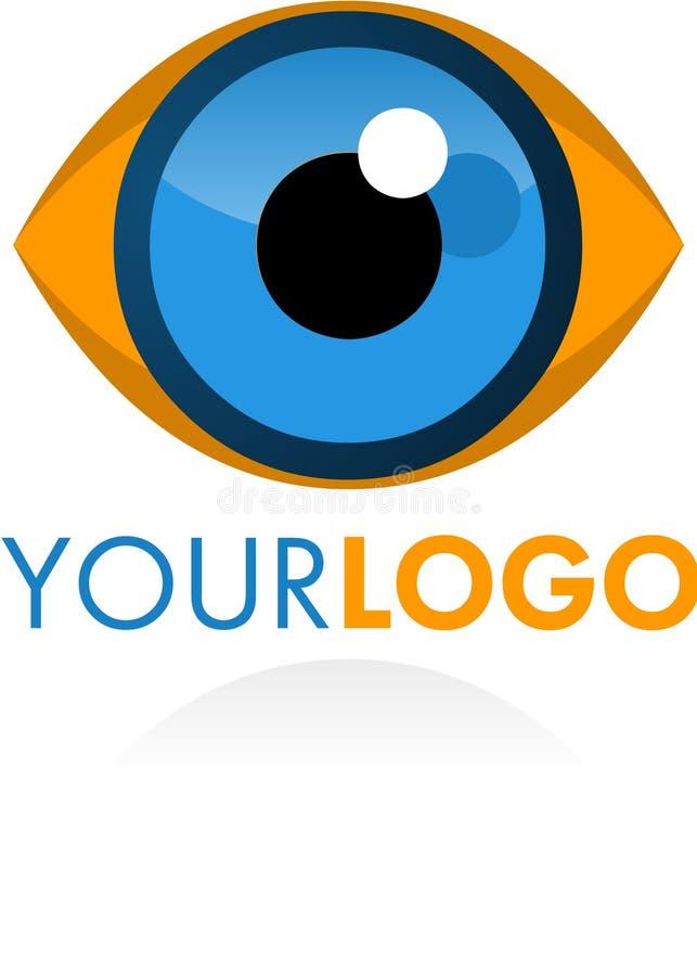 Logoöga vektor illustrationer