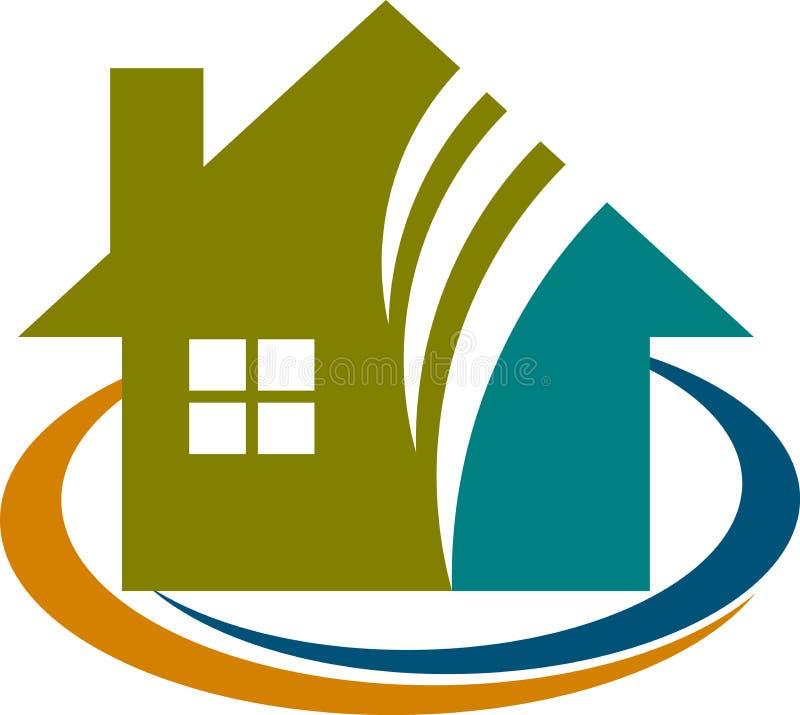 Logo à la maison illustration de vecteur