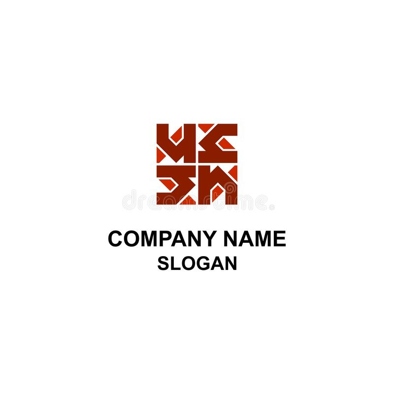Logo à la maison abstrait avec la lettre de H illustration stock