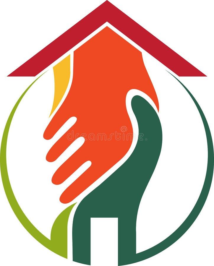 Logo à la maison d'accord illustration stock