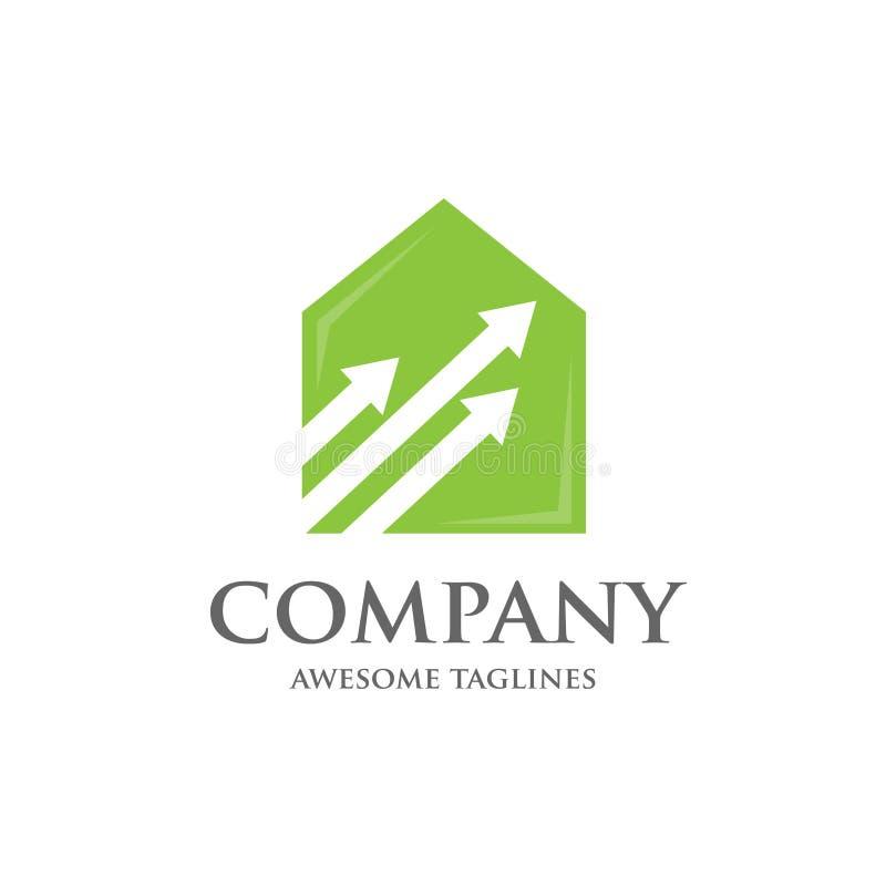 Logo à la maison de gestion illustration de vecteur