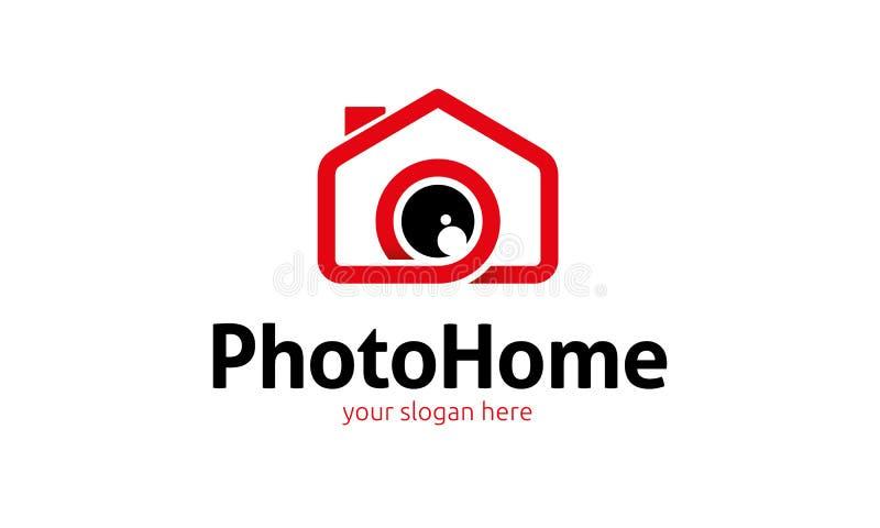 Logo à la maison de photo illustration de vecteur
