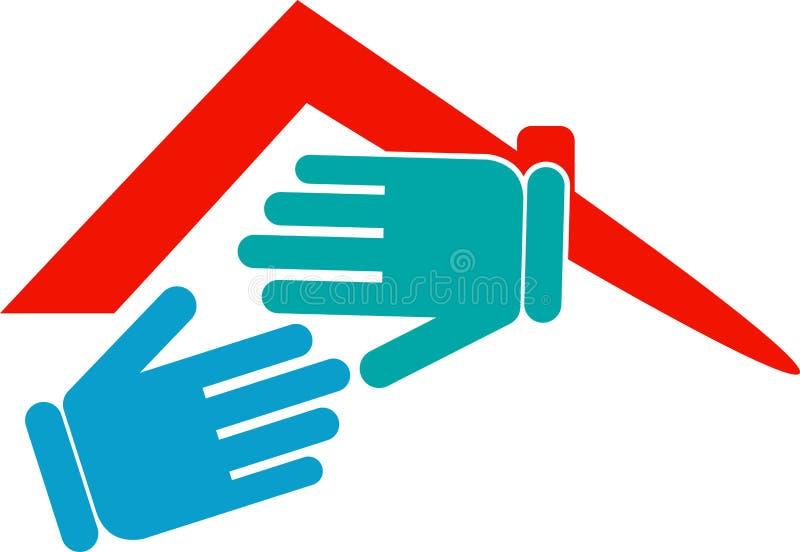 Logo à la maison de secousse illustration stock