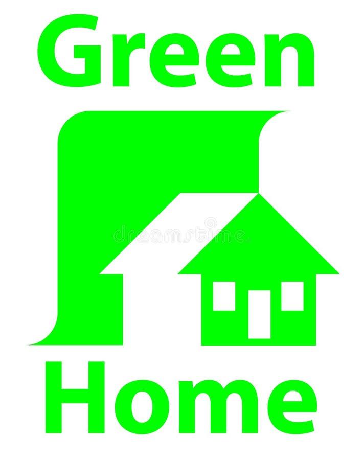 Logo à la maison en bois illustration de vecteur