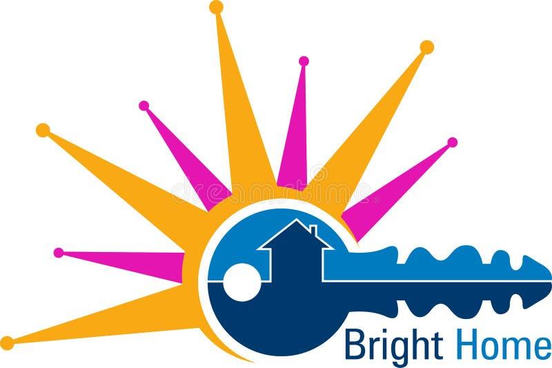 Logo à la maison lumineux illustration stock