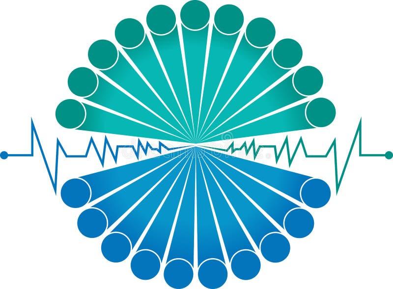 Logo élégant de battement d'équipe illustration libre de droits