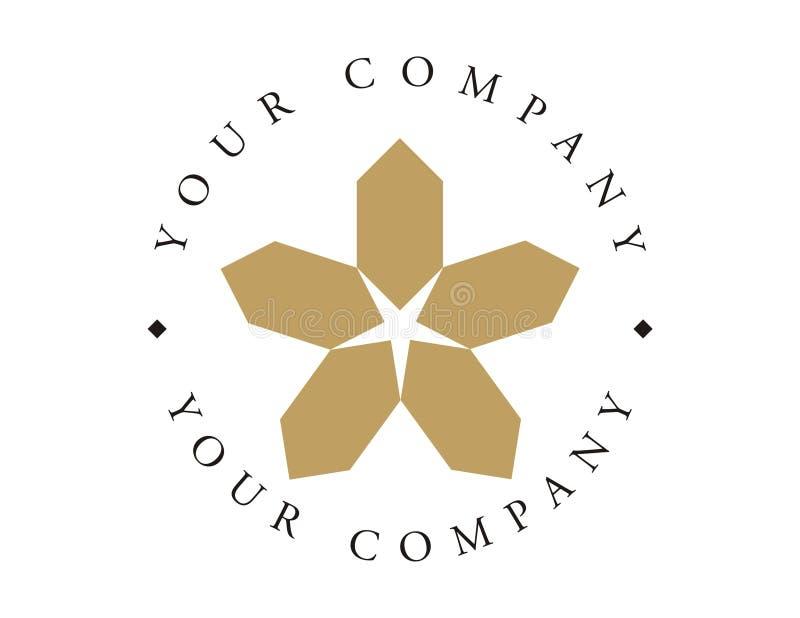 Logo - étoile organique illustration de vecteur