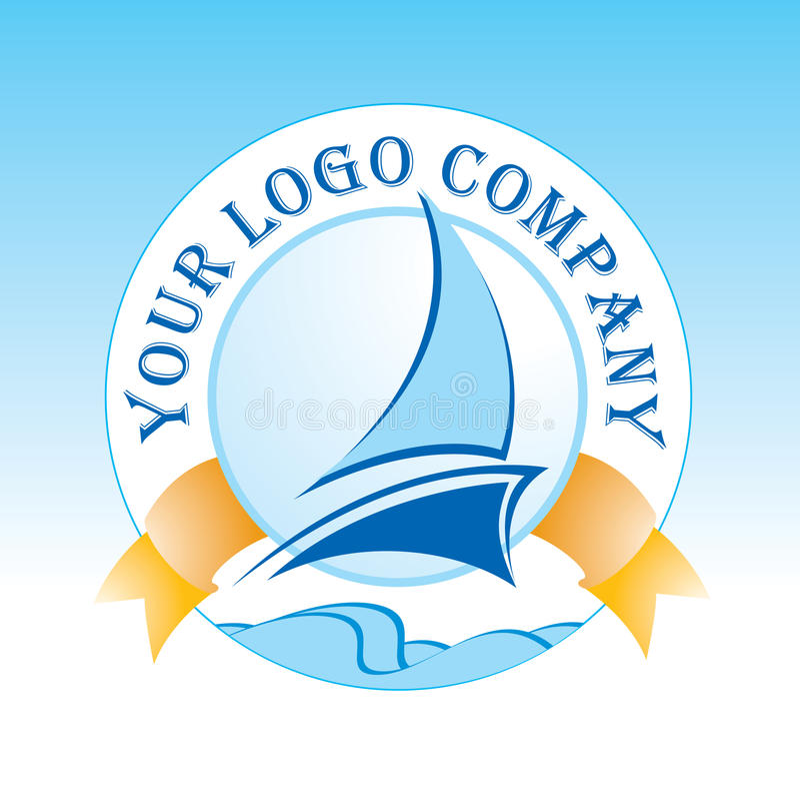 Logo. Modern colorful yacht logo