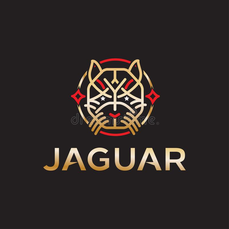 Jaguar logo design vector with modern illustration concept style for badge, emblem and tshirt printing. powerful Jaguar illustrati royalty free illustration