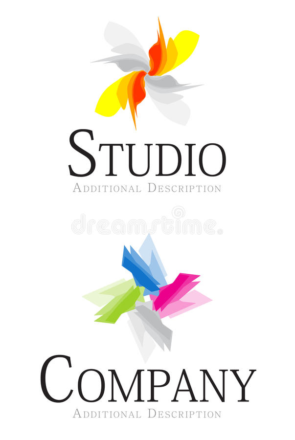 Logo. Two abstract logo for your corporate identity