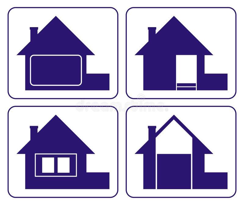 Logo 3 de Chambre illustration libre de droits