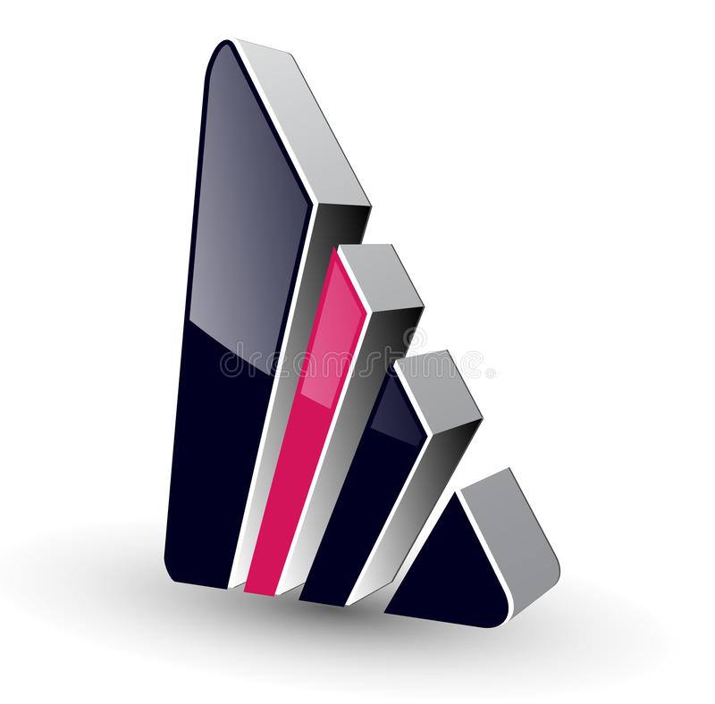 Logo 3d. Abstract shape, vector illustration