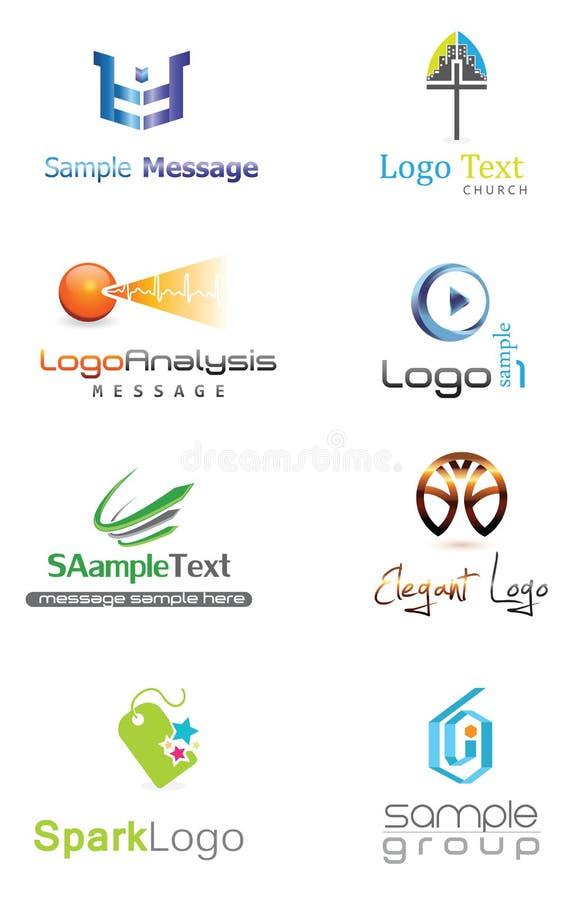 logo 3D illustration libre de droits