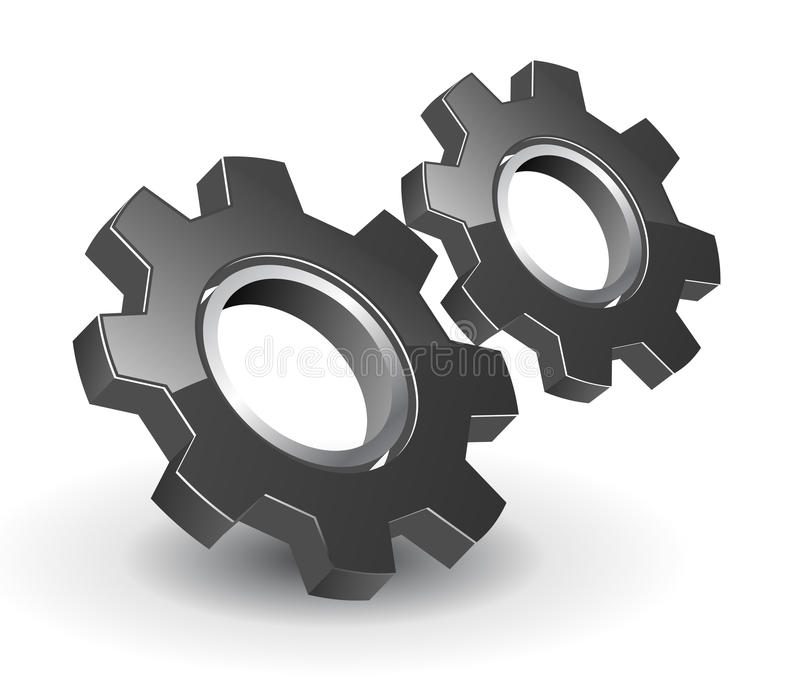 Download Logo 3D gears stock vector. Illustration of modern, abstract - 13592823