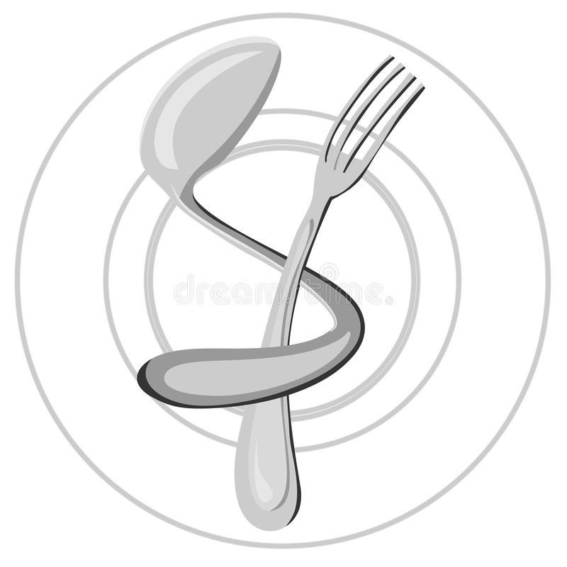 Logo. Food, restaurant logo. Vector illustration stock illustration