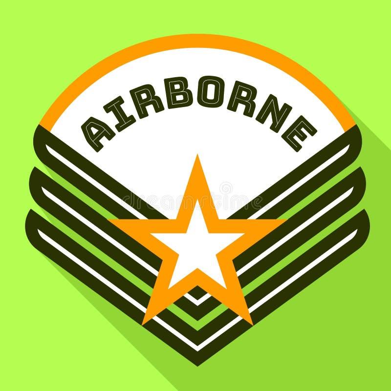 Logo aéroporté d'étoile, style plat illustration libre de droits