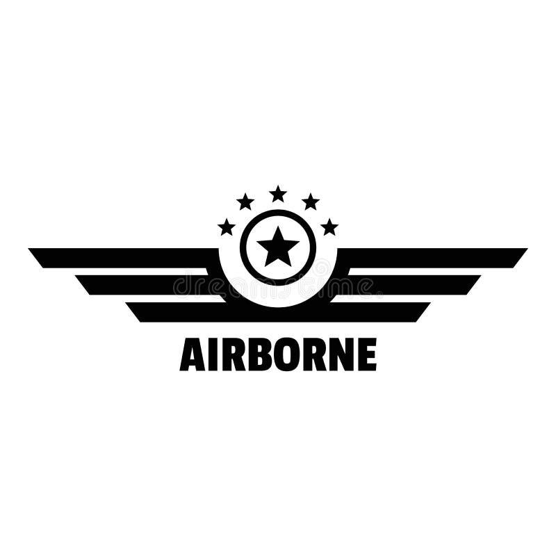 Logo aéroporté, style simple illustration libre de droits