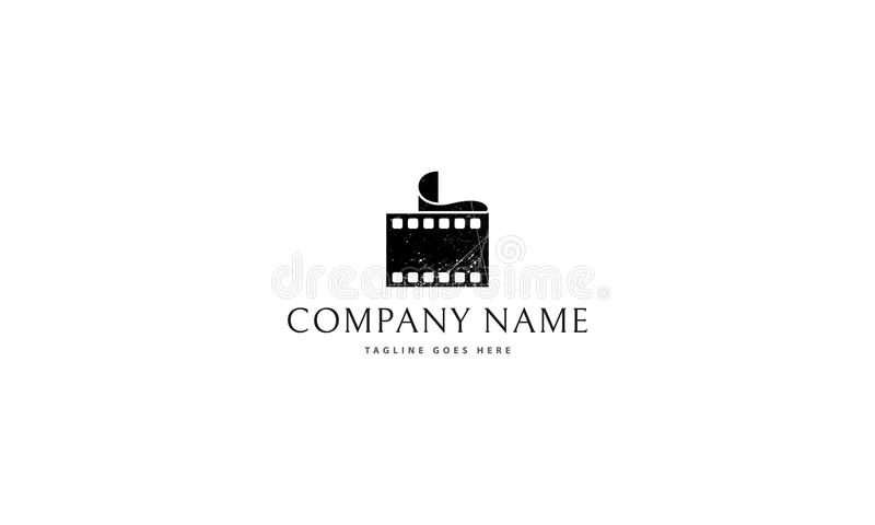 Film vector logo. On the logo is an abstract image of the film royalty free illustration