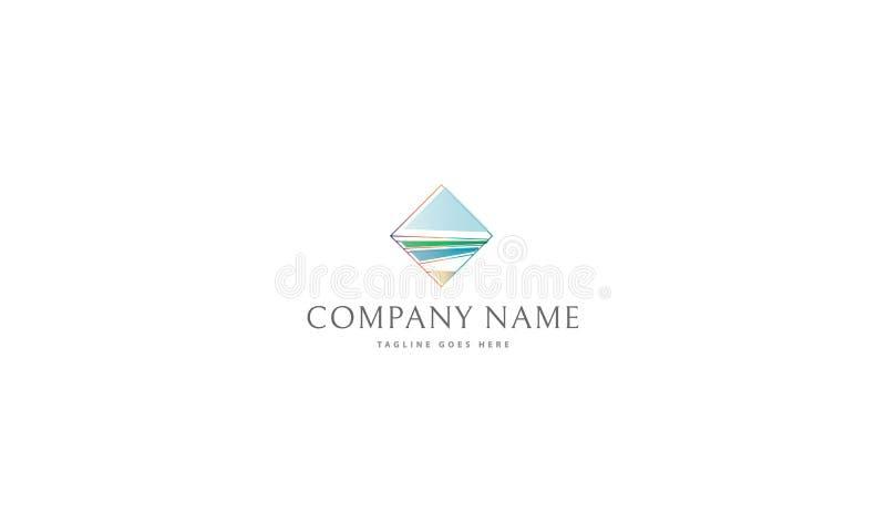 Ocean Landscape vector logo image royalty free illustration
