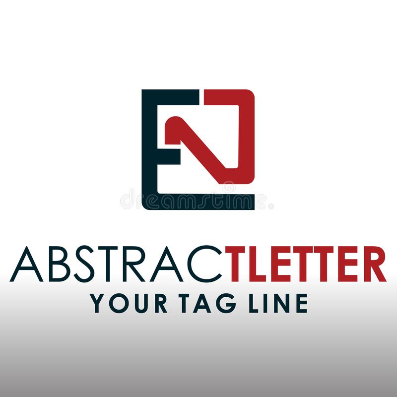 ABSTRACT LETTER LOGO EN 4 royalty free stock images