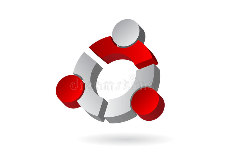 Logo. Abstract volume geometrical figure stock illustration