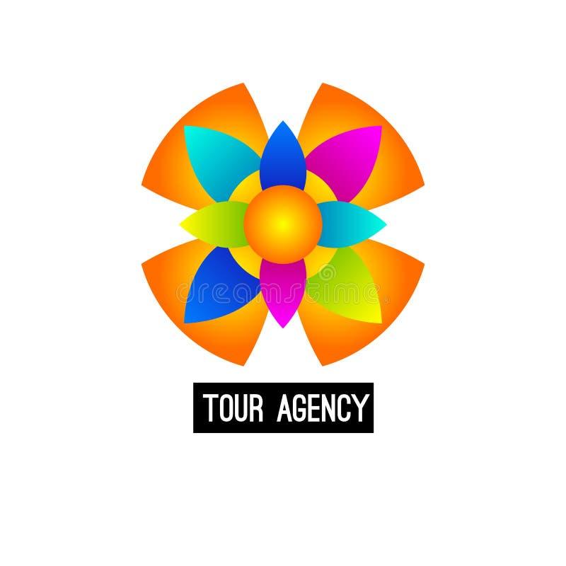 Logo abstrait d'agence de voyages illustration stock