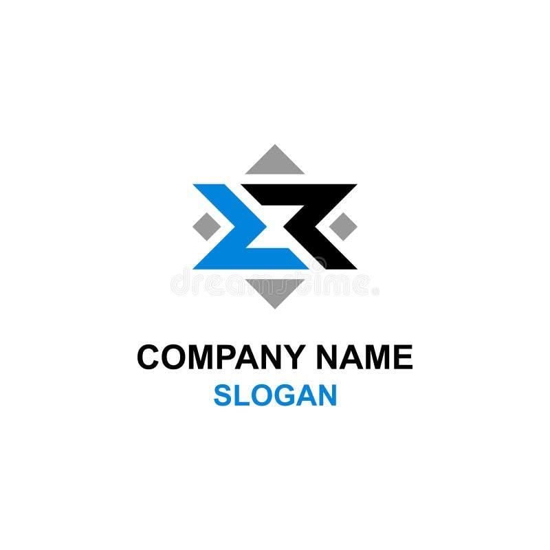 Logo abstrait d'hexagone/octogone d'initiale de lettre de rr illustration libre de droits