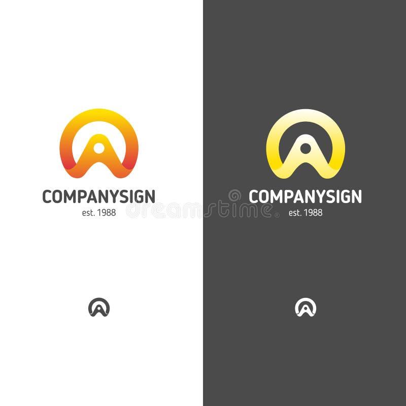 Logo abstrait dans un style moderne illustration libre de droits