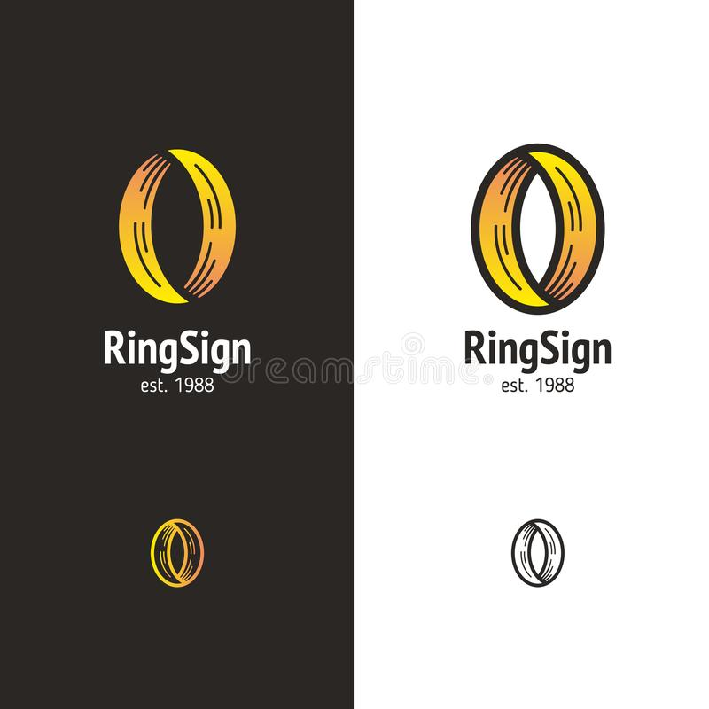 Logo abstrait dans un style moderne illustration stock