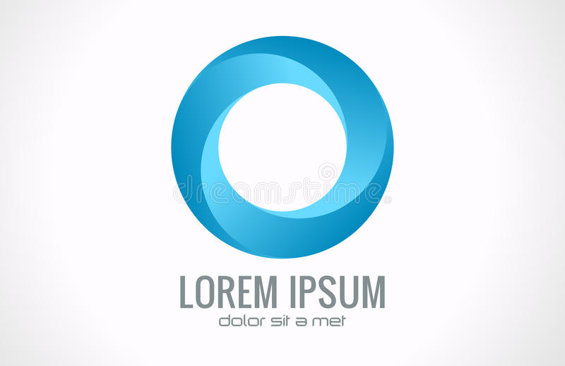 Logo abstrait de cercle illustration libre de droits