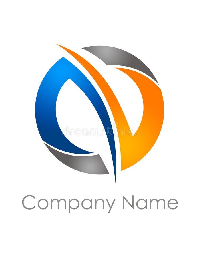 Logo abstrait de cercle illustration de vecteur