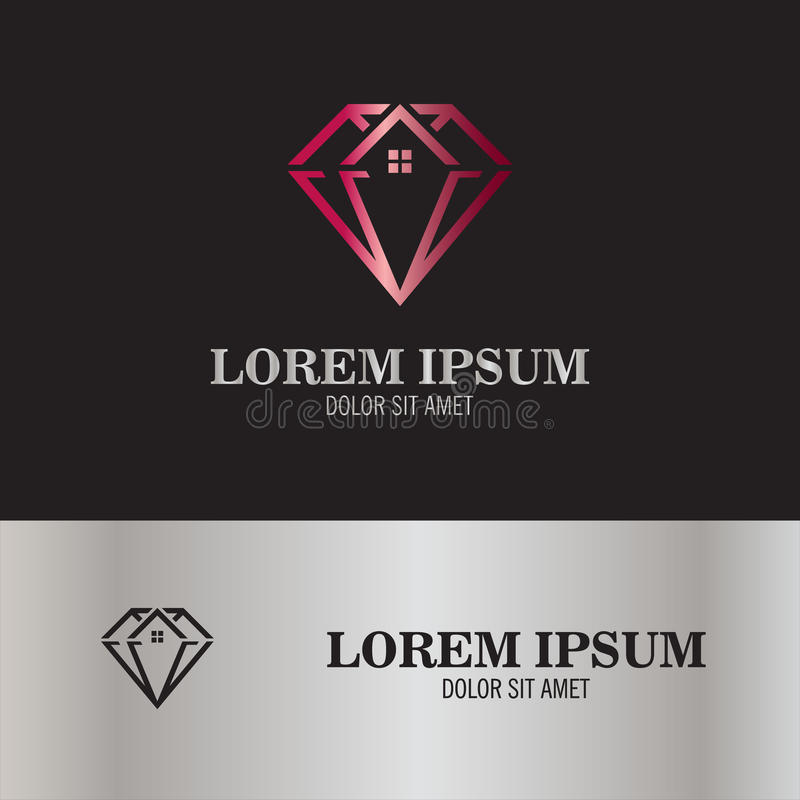 Logo abstrait de diamant photo stock