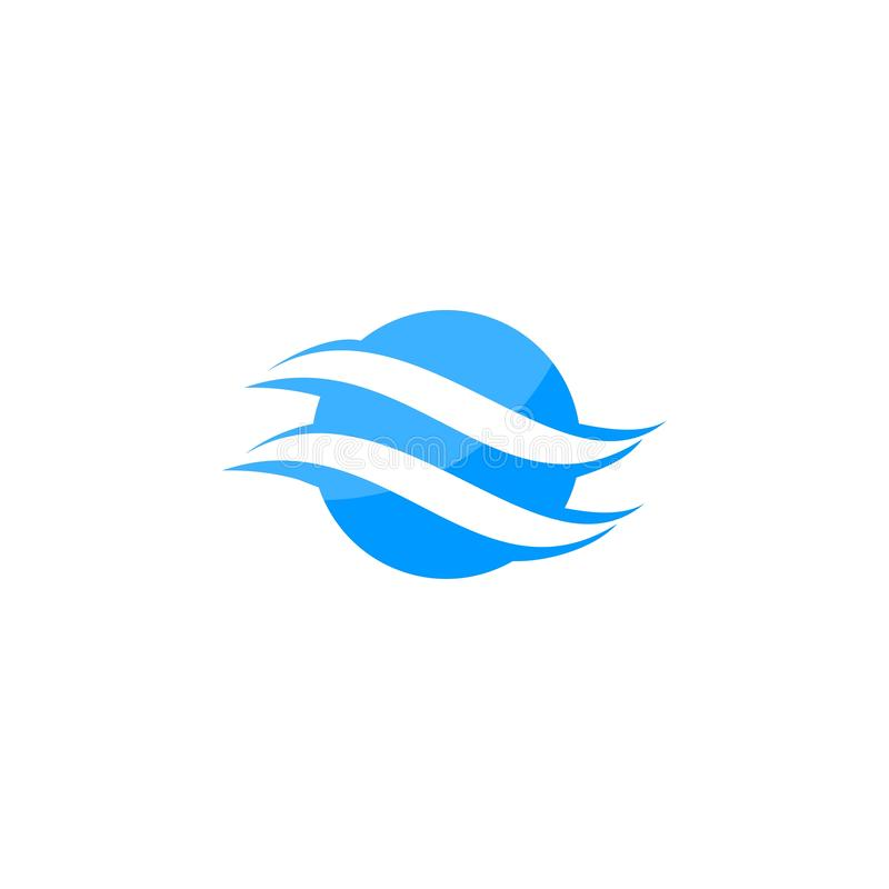 Logo abstrait de globe de lettre de S illustration de vecteur