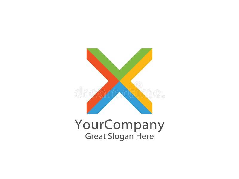 Logo abstrait de la lettre X concept futé de symbole d'éducation illustration de vecteur