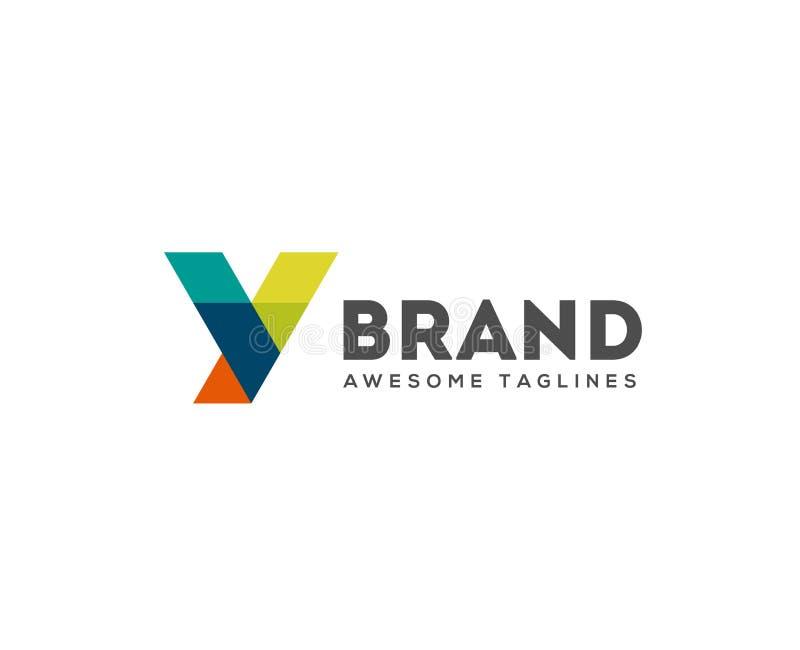 Logo abstrait de la lettre Y de polygone de tendance illustration libre de droits
