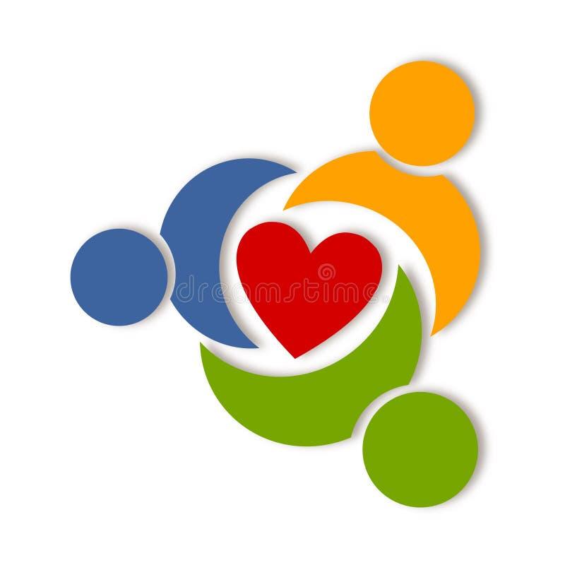 Logo abstrait de la vie de santé illustration libre de droits