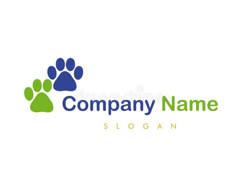 Logo abstrait de pattes illustration libre de droits