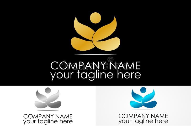 Logo abstrait de personnes illustration stock