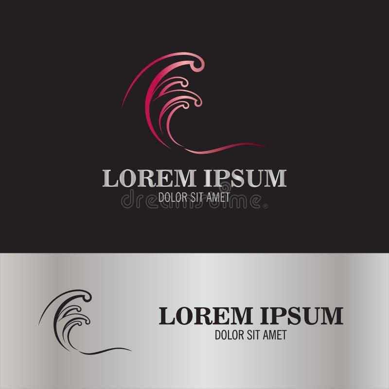 Logo abstrait de ressac illustration stock