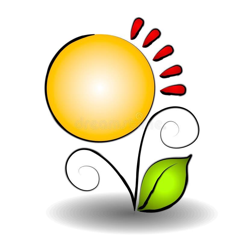 Logo abstrait de site Web de fleur illustration stock