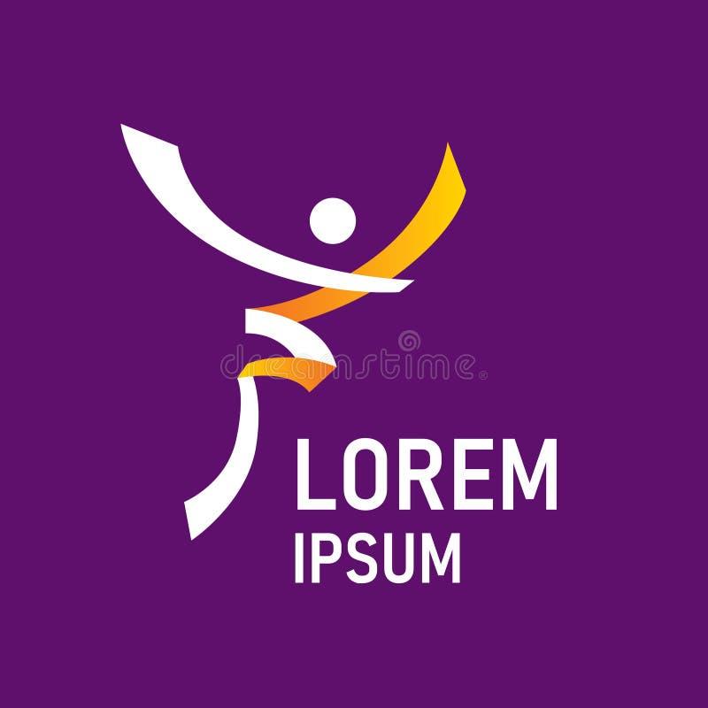 Logo abstrait de sport Élément de personnes de vecteur illustration stock