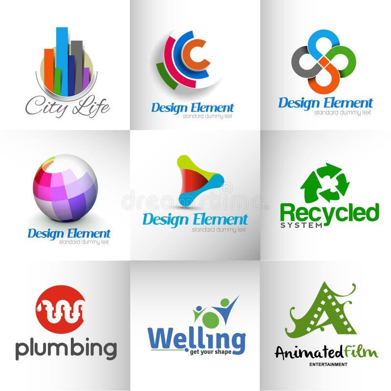 Logo abstrait de vecteur illustration stock