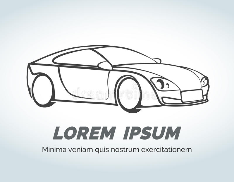 Logo abstrait de vecteur de voiture pour la course, le magasin automatique et illustration de vecteur