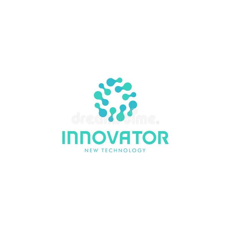 Logo abstrait innovateur relatif Symbole de vecteur de nouvelle technologie Logotype d'innovateur illustration de vecteur