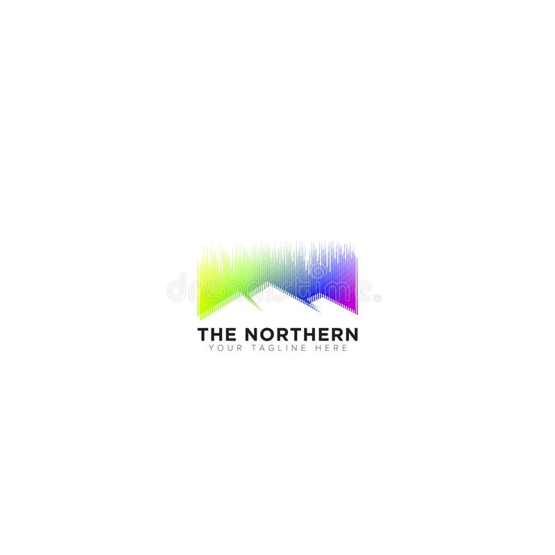 Logo abstrait, les lumi?res du nord Logo Design illustration libre de droits