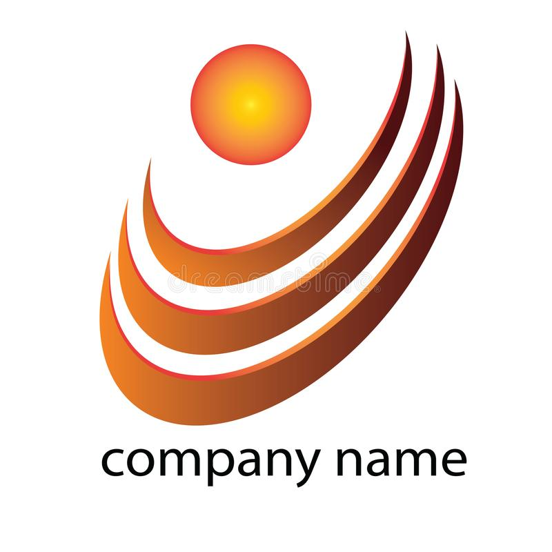 Logo aBSTRAK - Template Logo for your company. Template logo ABSTRAK ORANGE color. Good for logo your business or your company. File EPS Editable royalty free illustration